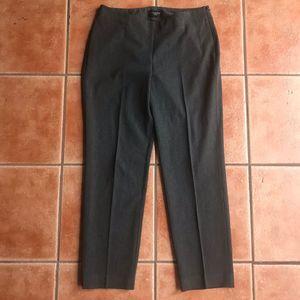 Talbots Heritage Dress Pants Side Zipper Gray 8P